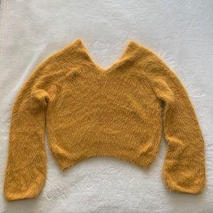 Pretty Little Thing Cropped Eyelash Sweater